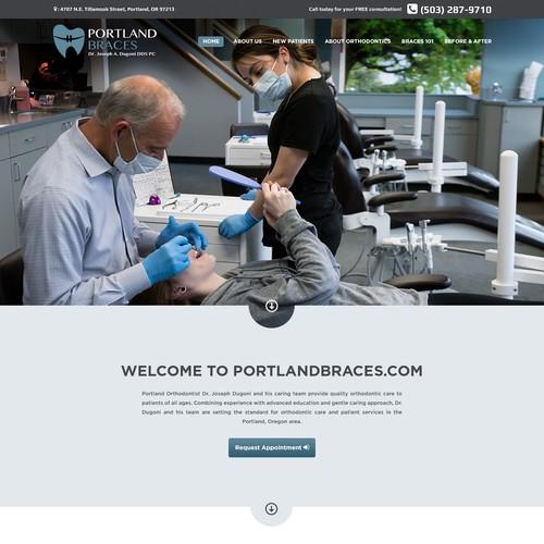 Modern Website for Portland Braces