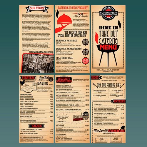 Menu Design for BBQ and Sports Bar