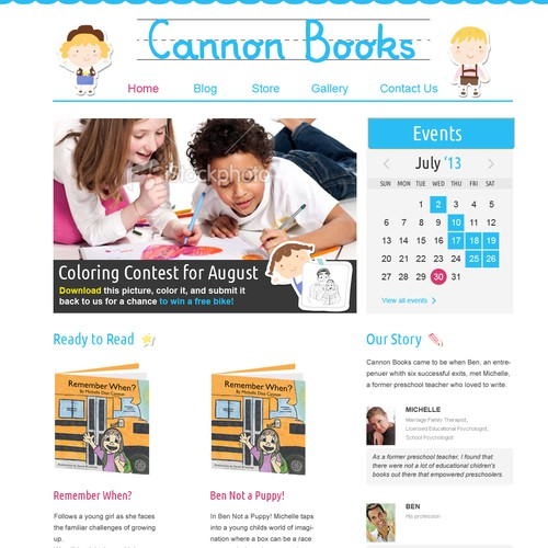 website design for Cannonbooks.org