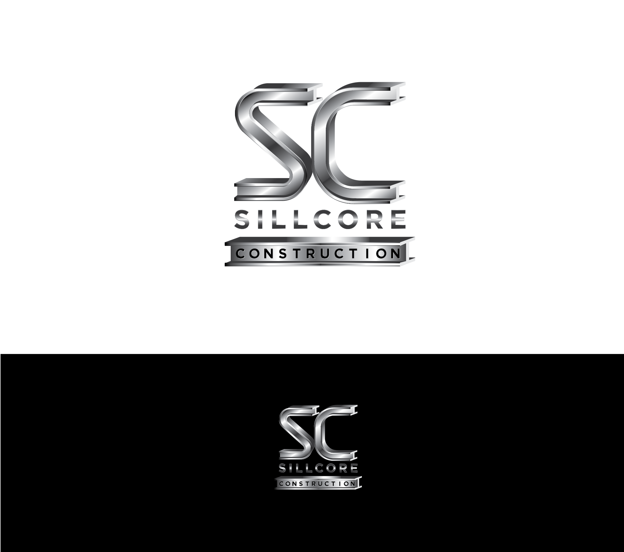 Metal Logo for SillCore: a steel structure company