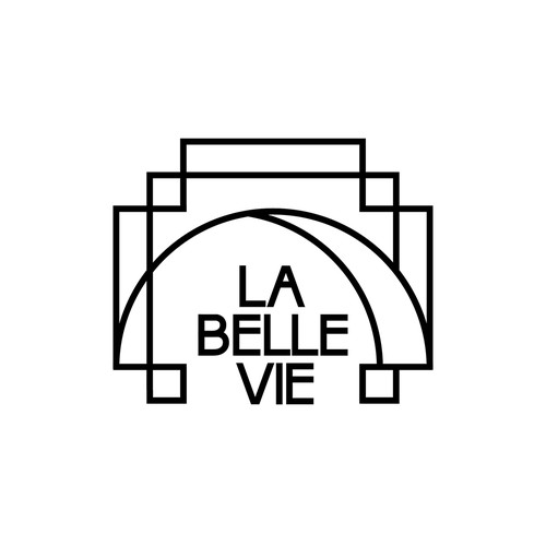 "Logo concept for ""La Belle Vie"" restaurant"