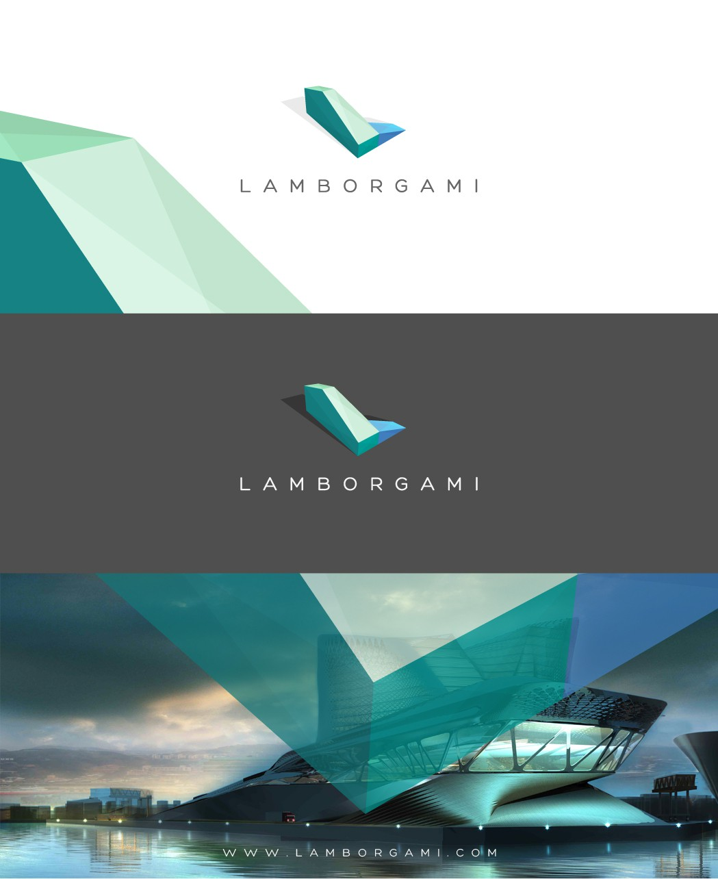 New Logo for ultra modern prefabricated-modular-knockdownable aerodynamic origamic architecture