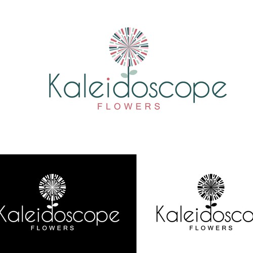 A kaleidoscope of flowers logo