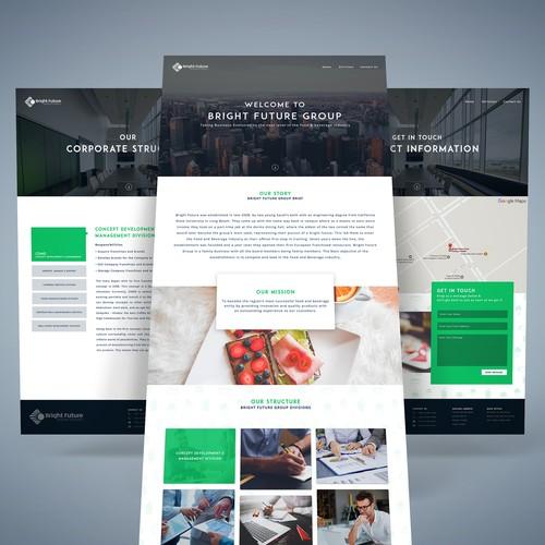 Web design concept for Bright Future Group