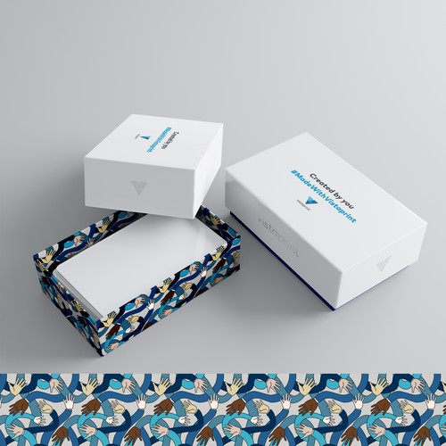 pattern for packing business cards