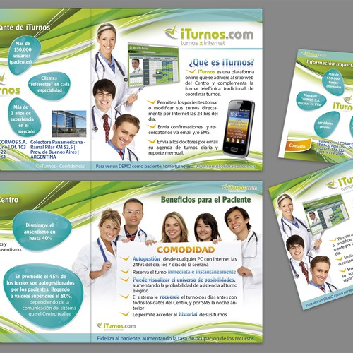 Help Please help me with a really cool brochure for doctors with a new brochure design