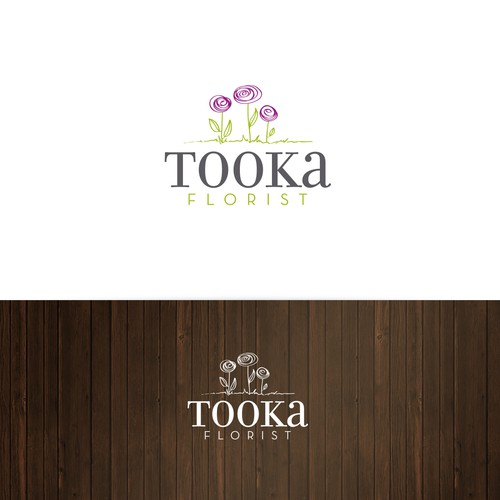 Logo for a florist