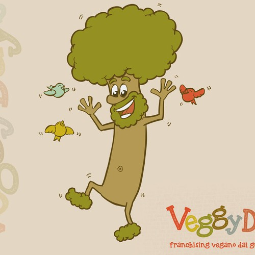 Create the mascot of VeggyDays, the vegan franchising by italian taste