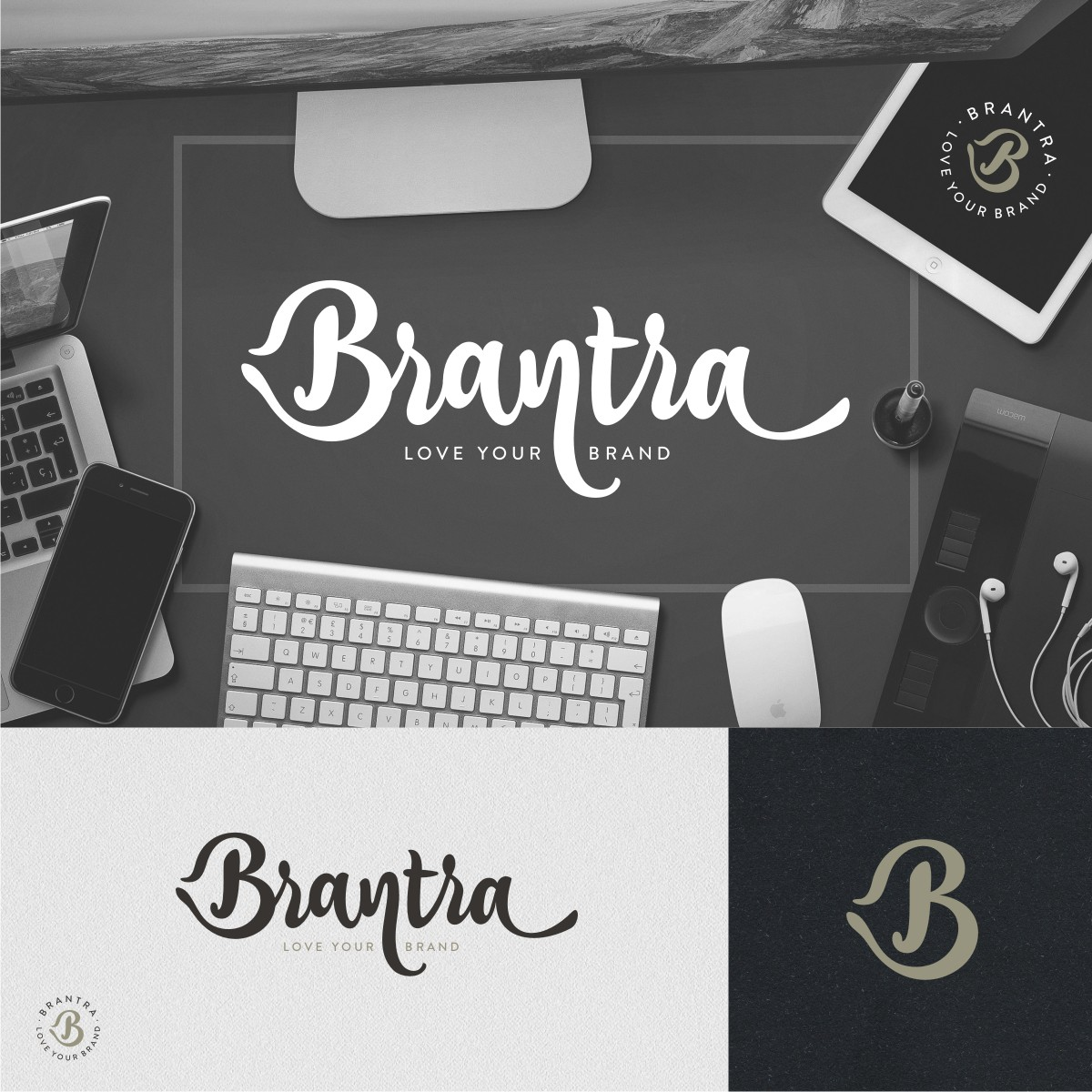 Looking for a vintage style, refined brush script wordmark for Brantra - a personal brand studio