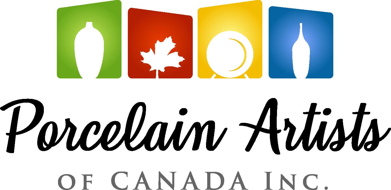 New Modern Logo for Porcelain Artists of Canada