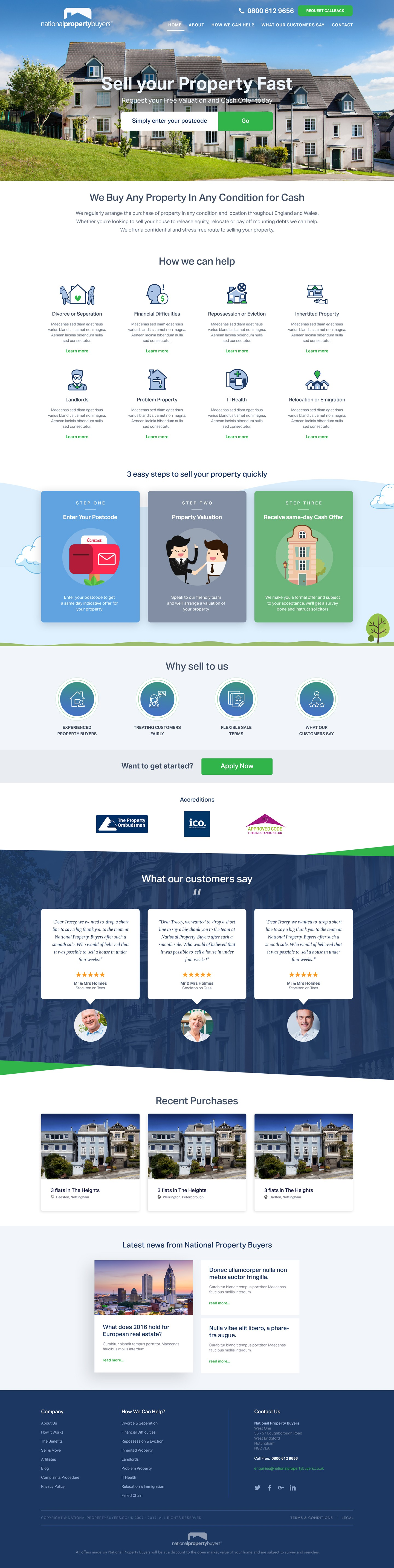 Re-design of National Property Buyers website