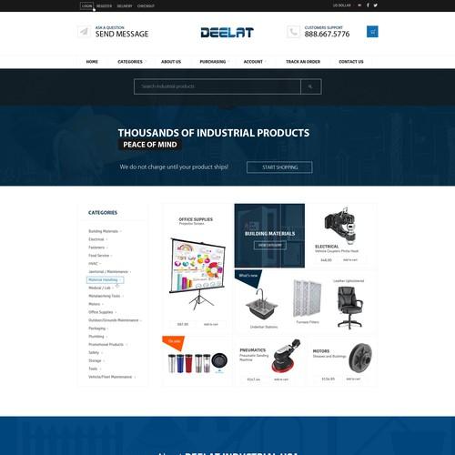Deelat Industrial Needs a Responsive Design