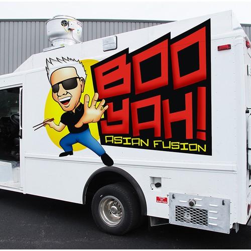 Boo Yah Food Truck Logo