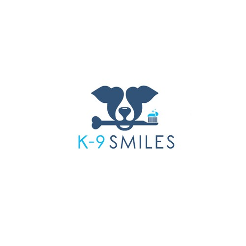 Logo for a K-9 dental service