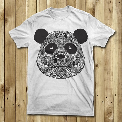 Pattern and animal t-shirt