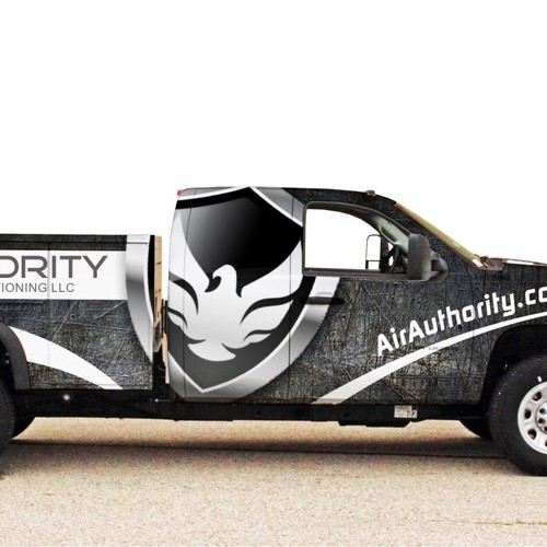 van wrap for Air Authority