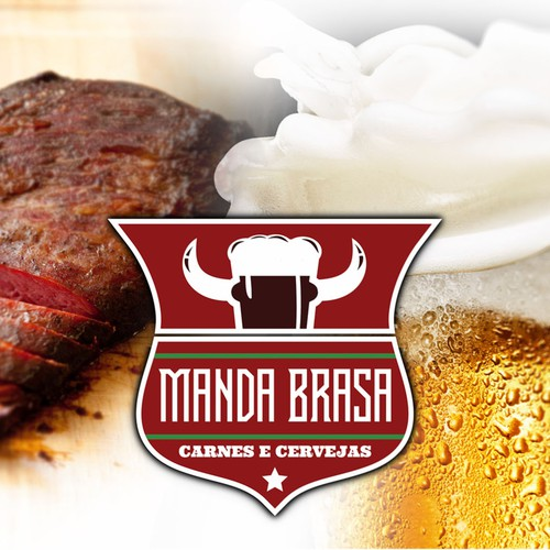 Create a logo and uniform to a new bar/restaurant which serves special Beefs and beers