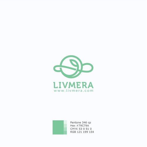 Simple modern logo for LIVMERA