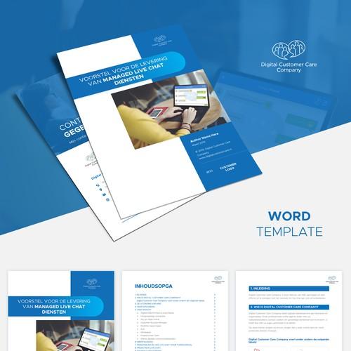 Digital Customer Care Company Word Proposal Template
