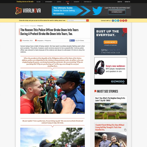Fast-growing Media Site, ViralNova.com, Needs An Awesome Face Lift