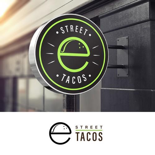Urban and modern logo for a tacos shop