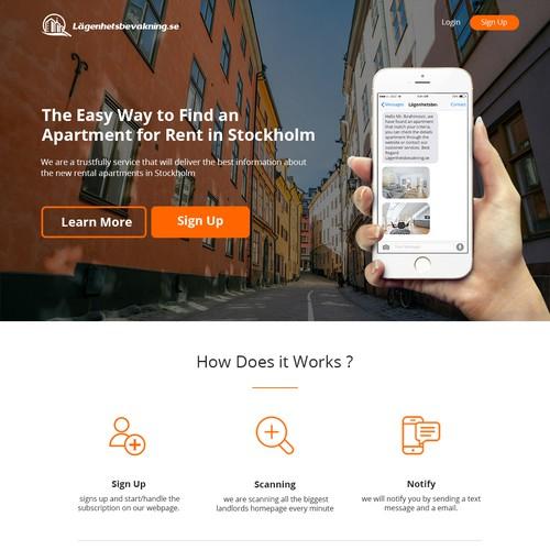 new rental apartmen landing page