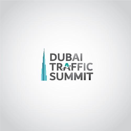 Logo for website traffic event in Burj Khalifa