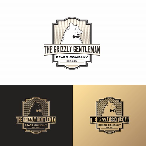 Bold logo concept for The Grizzly Gentleman