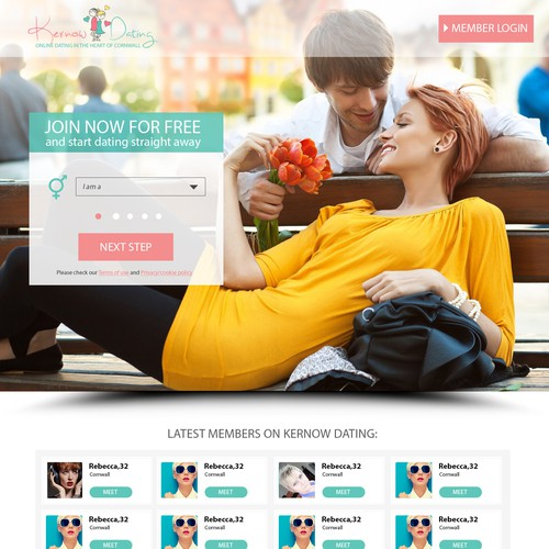 Lead generating landing page for dating website