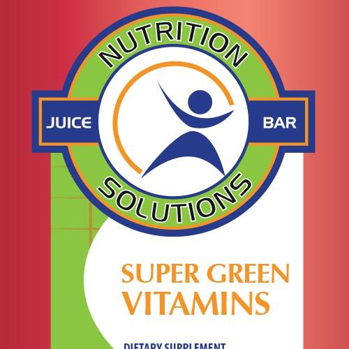 Label design for vitamins
