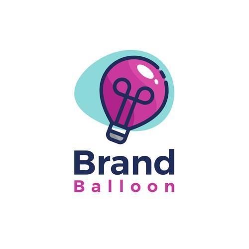 logo concept for brand balloon