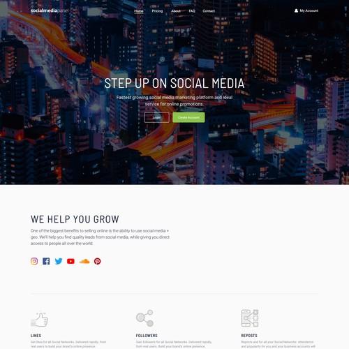 Social Media Panel (Designer's Version)