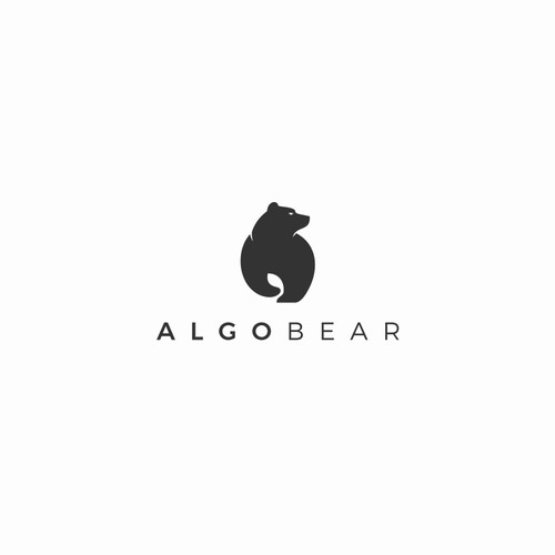 An iconic simple, clean and easy to remember  logo for ALGOBEAR