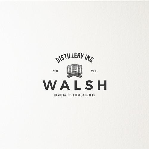 Logo for a distillery