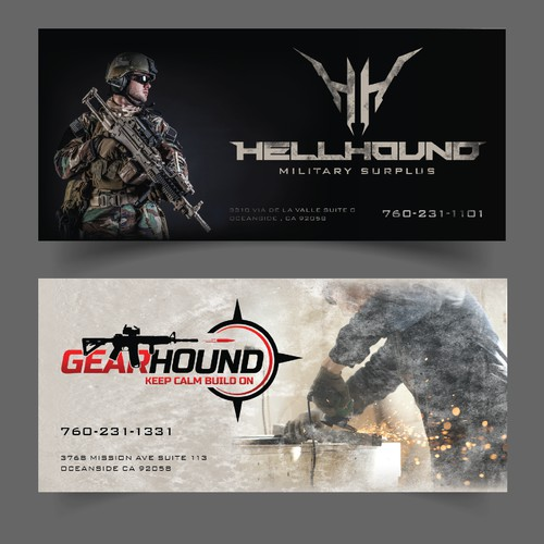 tactical/military themed flyer set