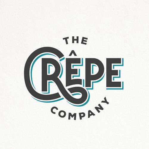 HIP AND SIMPLE TYPOGRAPHY LOGO FOR THE CREPE COMPANY