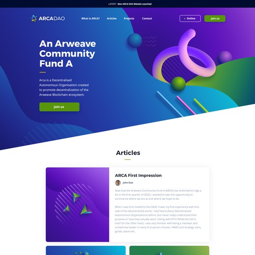 Abstract Website Design
