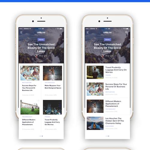 Blog & Video Training iOS App Design