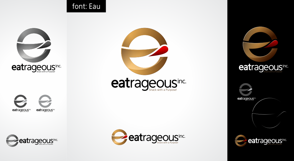!!PRIZE NOW Bigger!!*Extended **EATRAGEOUS - Hip, fun, elegant , culinary Snack Food corporate identity -GEN Y mass market