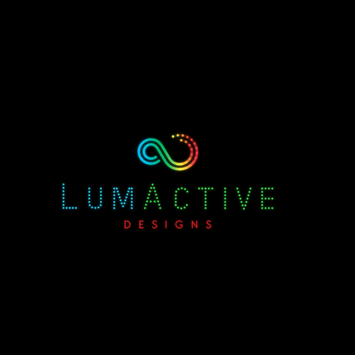 Light up clothing company logo