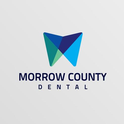 Contemporary Logo designed for Morrow County Dental