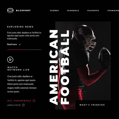 Sport News Web UI Design