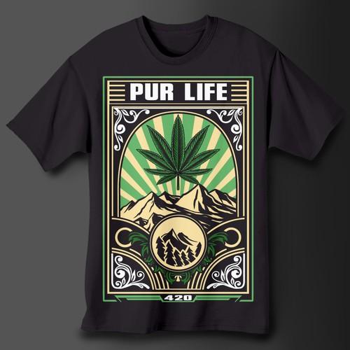 Cannabis T-shirt design - 4/20