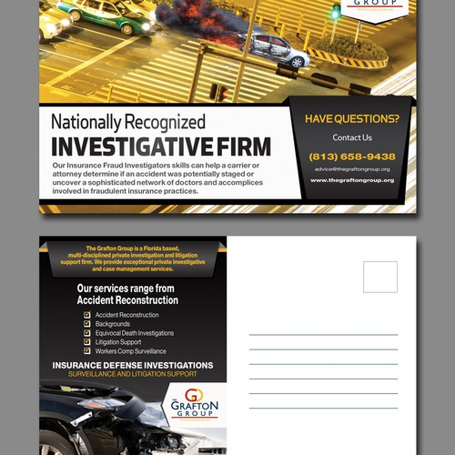 "Create a PostCard for ""Insurance Defense Investigation Services"""