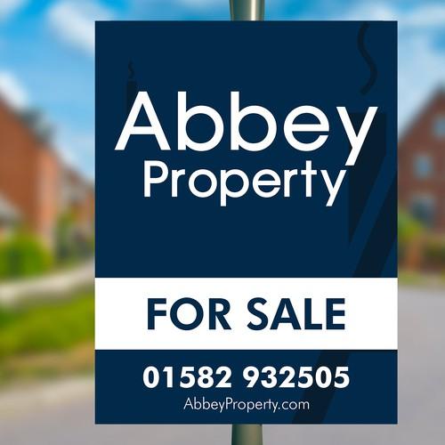 Abbey Property Signboard