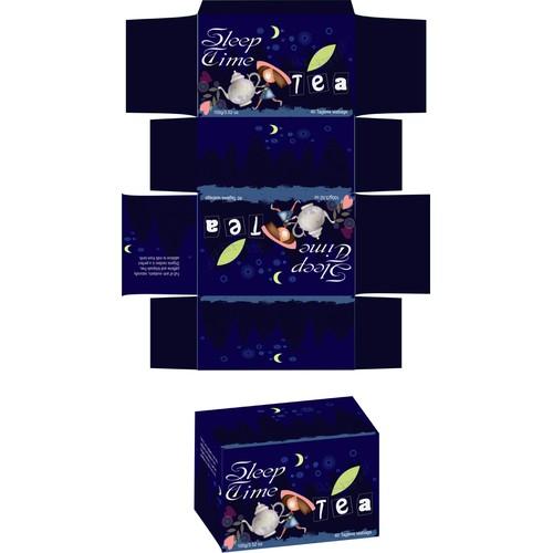 Custom package design for Childrens tea label