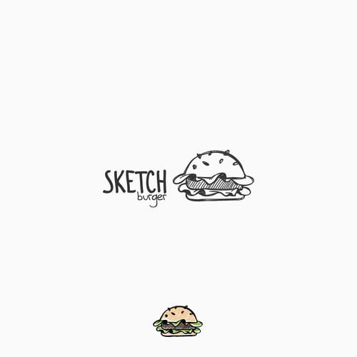 Sketchy burger logo