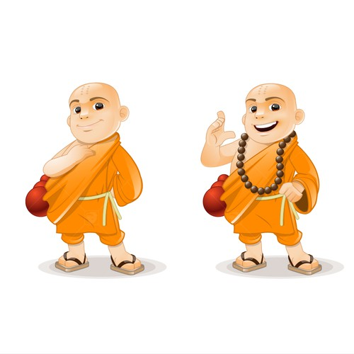 Cute Monk illustration needed for new product