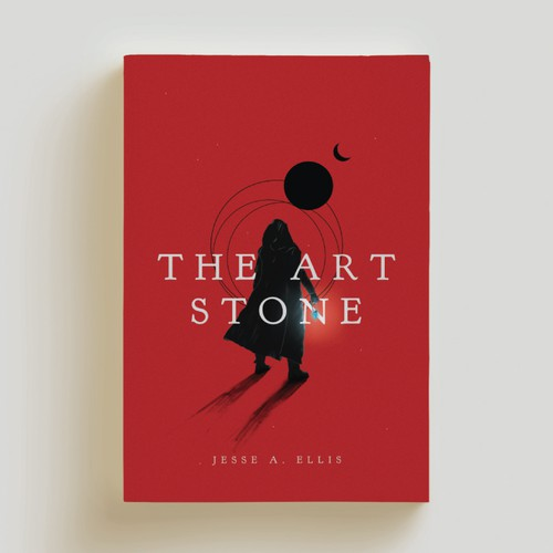 The Art Stone, a minimalist book cover