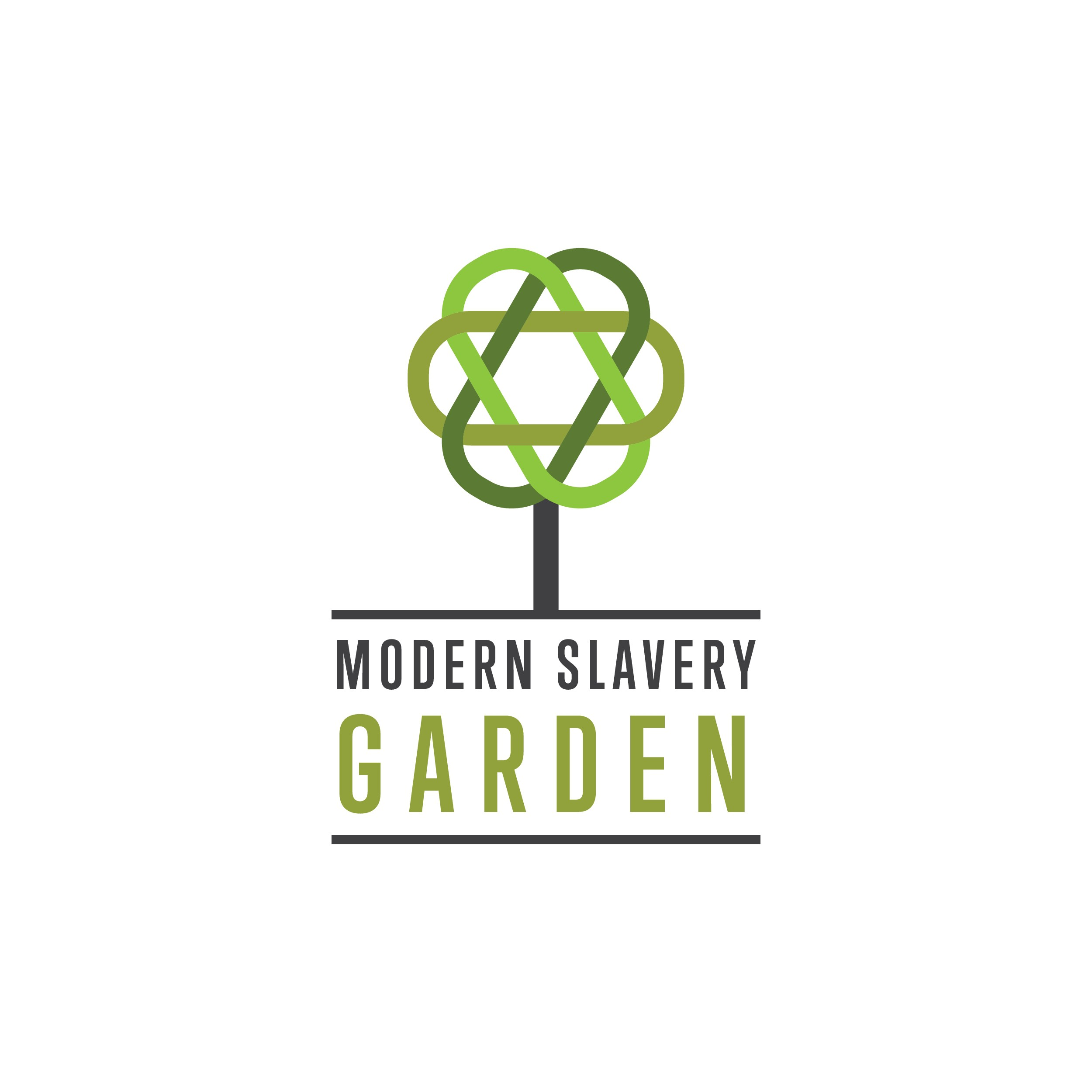 Logo for a garden dedicated towards awakening people to become abolitionists of modern slavery